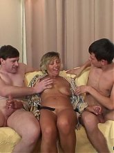 She's a gorgeous granny with a wet pussy and she needs rock hard dick inside her