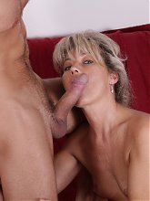 Nela gives us a nice view of her hairy pussy while she gets it plugged with a cock
